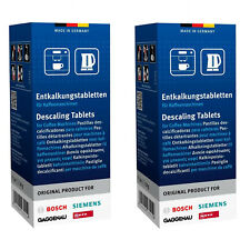 12 x SIEMENS Descaler Descaling Tablets Coffee Espresso Machine Decalcifier