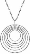 """Charles Garnier 17"""" + 2"""" Sterling Silver Necklace w/ Graduated Circles Pendant"""