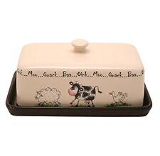 Price & Kensington Home Farm Animals Butter Dish - Ceramic - Multi-Colour
