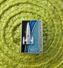 Rare Vintage Soviet Union Russian Satellite Sputnik Era Space Souvenir Pin Badge