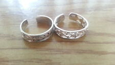 925 Sterling Silver* Size Adj *C957 Beautiful Two New Flowers Ropes Toe Rings