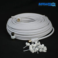 10M Metre Male to Male RF TV Aerial Lead Cable Coaxial Digital Plug Coax Sky Eye