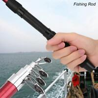 Carbon Fiber Lightweight Telescopic Fishing Rod Travel Spinning Pole Travel Hot