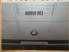 BMW M1 Sports Car original 1978 Dutch Market brochure prospekt