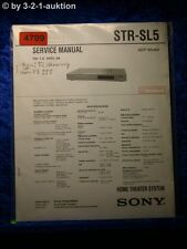 Sony Service Manual STR SL5 FM/AM Receiver  (#4709)
