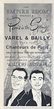 "1958 The Waldorf-Astoria ""Paris in the Spring"" Varel & Bailly Print Ad"