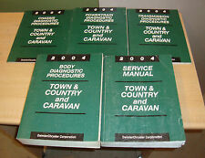 2004 Chrysler Town & Country Dodge Caravan Service Manual + Procedures 5 Books