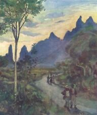 BRAZIL. At the back of the Organ Mountains 1908 old antique print picture