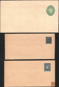 NICARAGUA, 1890-97. Wrappers H&G 2,14,23, Mint