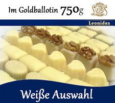 Belgische LEONIDAS Pralinen Weiß im Goldballotin, 750g (3,70€/100g)