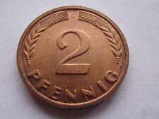BRD 2 Pfennig magnetischer Eisenkern 1967 G PP Polierte Platte RAR! Eisen J.381