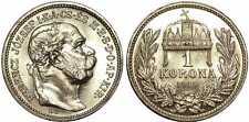 HUNGARY - 1 KORONA 1915 silver UNC mint luster