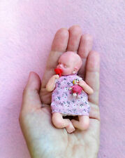 MUÑECA BEBE REBORN MINIATURA - OOAK BABY - DOLL REBORN