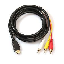 5ft/1.5m HDMI auf 3RCA Erweiterungssignal Konverter Adapter Kabel für HDTV DVD