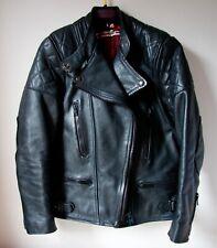 STUNNING RARE WOLF LEATHER MOTORCYCLE BLACK JACKET Phoebe Philo SIZE 36 UK 8/10f