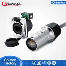 CNlinko RJ45 Signal Connector Cat5e Plug Socket For Led Screen Display Lighting