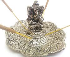 Metal Ganesha Ganesh Elephant silver incense holder ash catcher hippy home