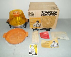 "New!! Vtg HAMILTON BEACH ""Butter Up"" POPCORN MAKER/ Popper #499 (JOE NAMATH)"
