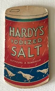 1920s HARDY'S SALT ADVERTISING BOOKLET SEWING Needle Case OUTPOURS A DOWNPOUR