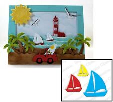 Impression Obsession Sailboats Die189-C Thin Metal Cutting Die Set