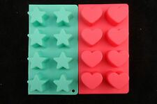 Green Star and Pink Lovehart Cooking Moulds - Makes 8 each - Free Post