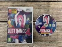 Just Dance 4 Special Edition 3+ PAL Nintendo Wii No Manuals Untested Game
