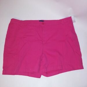 Basic Editions Womens Shorts XXL Pink Solid
