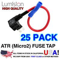 25 Pack Micro2 ATR APT Add-A-Circuit Lumision Fuse Tap Lot Dash Cam Radar DIY