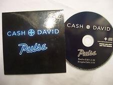 CASH+DAVID Pulse - 2014 UK CD PROMO – Synth-Pop, Electro  - BARGAIN!