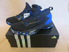 huge selection of 212c3 9d42f New YouthMens Adidas D Lillard 2 Basketball Shoes BlackRoyal Blue B42384  Sz