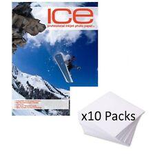 10x confezioni da - ICE LUDICO RIVESTITA CARTA FOTO INKJET 210GSM A4 25 foglio a