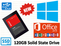 "New 120GB SSD 2.5"" Solid State Laptop Hard Drive Preloaded with Windows 10 Pro"