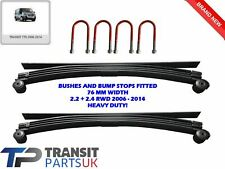 2 X HEAVY DUTY 4+1 = 5 LEAF SPRING & 4 U BOLTS FORD TRANSIT MK7 2006 ON