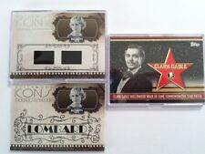 Clark Gable Patch Card 42/50 And 2 Carole Lombard Cards Swatch 09/50 And 179/200