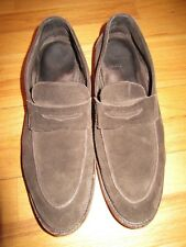 8D/MENS VALENTINO BROWN SUEDE SLIP ON SHOES/ISAIA/BLAKE/SIZE 11/11.5/PRE-OWNED!