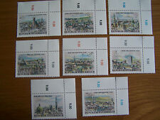 AUSTRIA,1964 STAMP EXHIBITION,8 VALS,U/MINT,EXCELLENT.