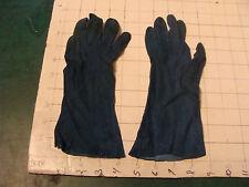 Vintage Fancy Womans Gloves, uncleaned Pair #4 blue