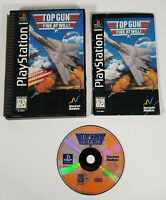 TOP GUN Fire at Will (Sony Playstation 1 PS1 1995) - Long Box w/ Manual, Tested