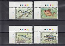TIMBRE STAMP  4  GAMBIE  Y&T#837-40 POISSON FISH NEUF**/MNH-MINT 1989 ~A23