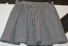Ladies Atmosphere Black and White Gingham Check Cotton Skirt Size 8