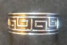 Solid Silver Toe Ring X 1; *Bn* Greek type design *strong sturdy ring*