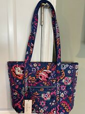 NEW Vera Bradley DRAGON FRUIT FLORAL Iconic Small Vera Tote - Shoulder Bag Purse
