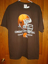Authentic NFL Team Apparel Cleveland Browns  Short Sleeve T-Shirt Mens Large