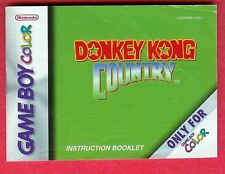 Donkey Kong Country Game Boy Color Instruction Booklet Manual - Accessories