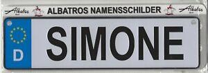 "Albatros Namensschild /""SIMONE/"""