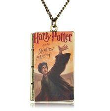 ciondolo libro HARRY POTTER collana deathly hallows hogwarts magia