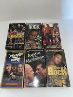 WWE/WWF Vintage VHS Lot - 6 Tapes - Stone Cold, The Rock, Vince McMahon