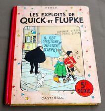 HERGE - LES EXPLOITS DE  QUICK ET  FLUPKE  5E SERIE - 1954 - B10