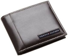 16pc Tommy Hilfiger Cambridge Brown Leather Credit Card Billfold Men's Wallet