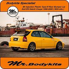 Mr PP Plastic Type-R Rear Lip Suit Honda Civic EK Series 1996-2000 Hatch / Coupe